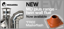 MD Plus range - twin wall flue with free masterflash